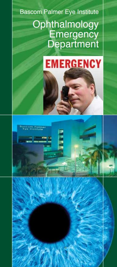 Eyeball and Medical building featured on promotional material for Ophthalmology Emergency Department