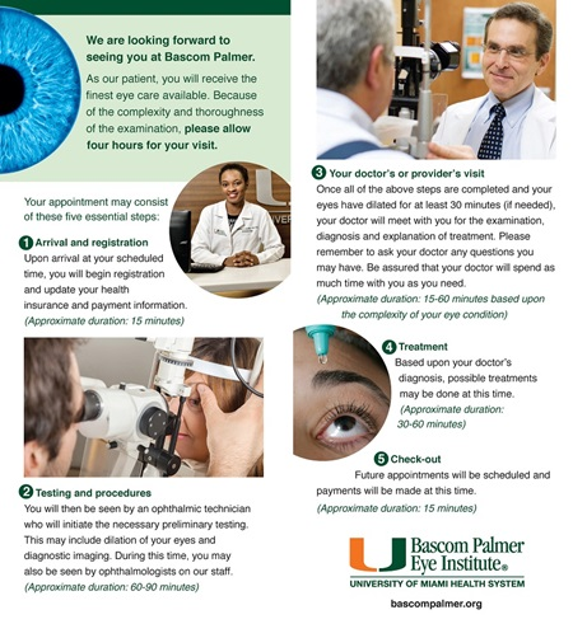 Plan Your Visit   Bascom Palmer Eye Institute   University