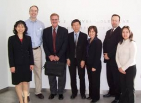 Left to right: Dr. Wen-Hsiang Lee (BPEI), Dr. Edwin Stone (Iowa), Dr. Craig McKeown (BPEI), Dr. Byron Lam (BPEI), Dr. Audina Berrocal (BPEI), Dr. Sander Dubovy (BPEI), geneticist Tania Arguello, MS (BPEI).