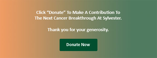 "Click ""Donate"" To Make A Contribution To The Next Cancer Breakthrough At Sylvester. Thank you for your generosity."
