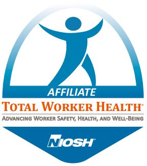 Logo for Total Worker Health with tagline Advancing Worker Safety, Health, and Well-Being