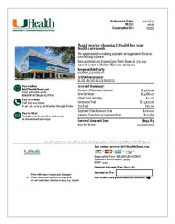 Sample bill from the University of Miami Health System